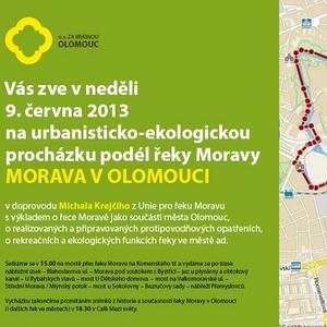 Urbanisticko-ekologická procházka: Morava v Olomouci