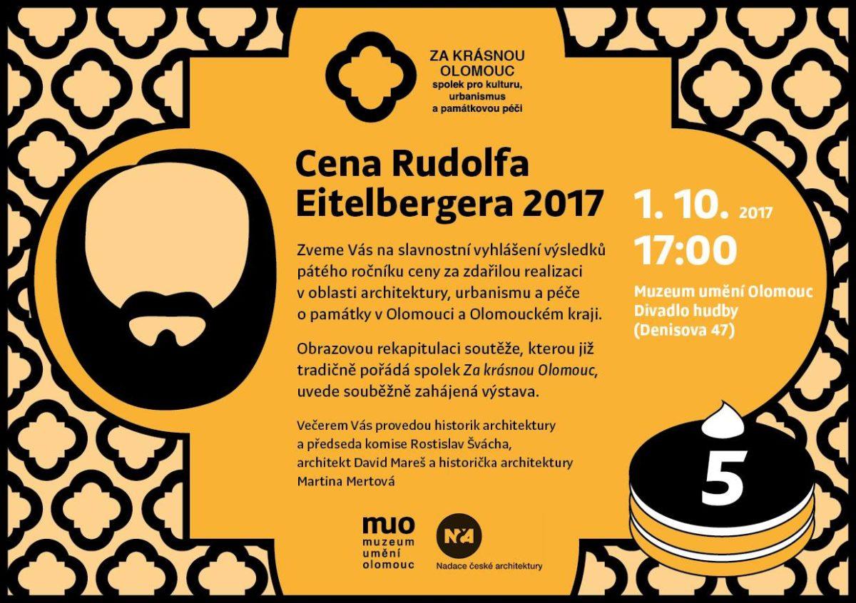 Cena Rudolfa Eitelbergera po páté!