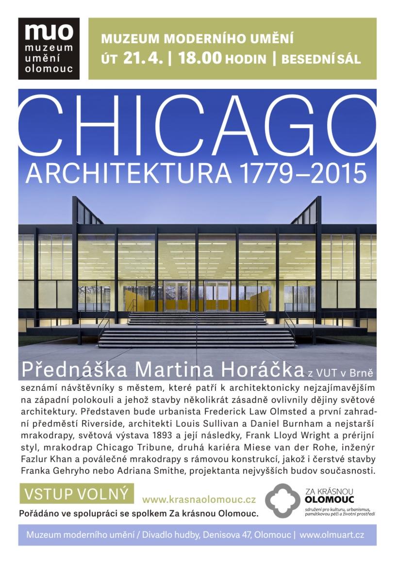 Přednáška Martina Horáčka: Chicago: architektura 1779-2015